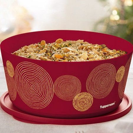 Tupperware Tigela Ilúmina Fios de Ouro 4,3 litros Marsala