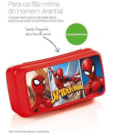 Tupperware Porta Sanduíche Retangular Homem Aranha