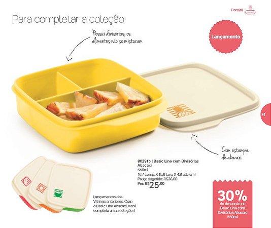 Tupperware Basic Line com Divisórias Abacaxi