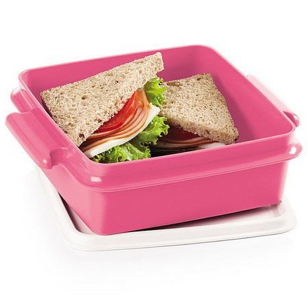 Tupperware Pote Com Alça Rosa 780 ml