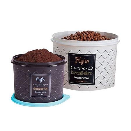 Tuppeware Conjunto com 2 potes Feijão 2,0 Kg e Café 700g