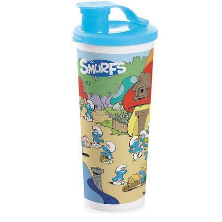 Tupperware Copo 470ml Com Bico Smurf