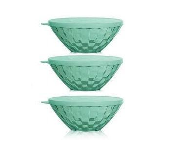 Tupperware Conjunto Tigela Prisma Verde