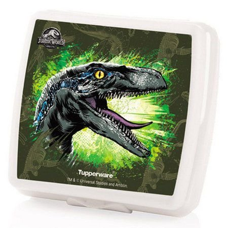 Tupperware Porta Sanduíche Quadrado Jurassic World