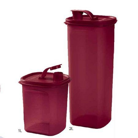 Tupperware Tupper Slim 2 Litros + Tupper Slim 1 Litro