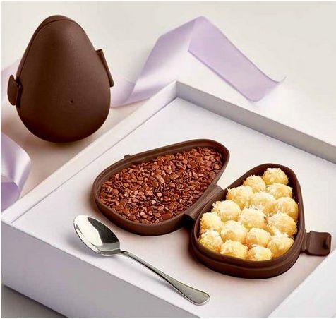 Tupperware Conjunto com 2 Tupper Ovo de Páscoa