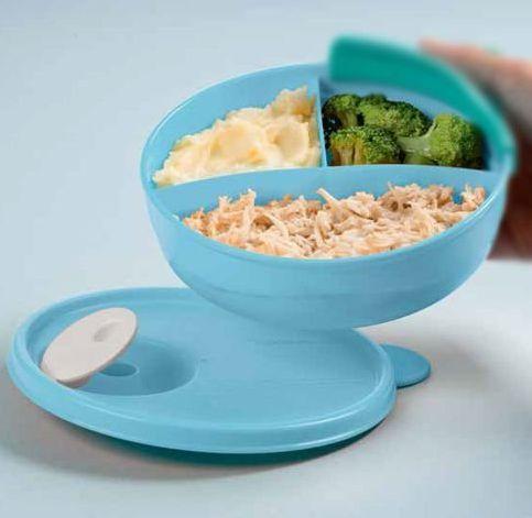 Tupperware Cristalwave com Divisórias 430 ml Azul