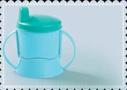 Tupperware Copinho com Bico e Alça 150 ml Azul