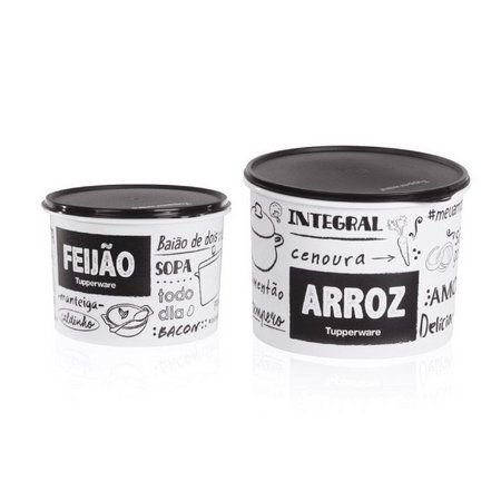 Tupperware Kit 2 Potes Arroz 1,5kg e Feijão 1,5kg PB FUN