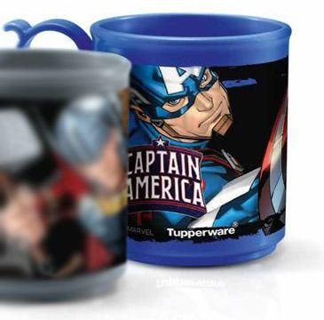 Tupperware Caneca Jumbo 280 ml Capitão América