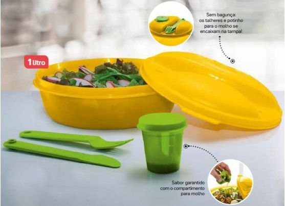 Tupperware Marmitup Salad 1 Litro Laranja