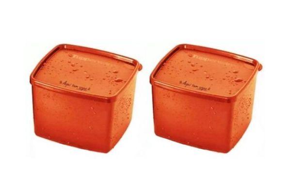 """Tupperware Conjunto com 2 Jeitosos """"Aqui tem Sopa"""" 800 ml"""