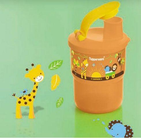 Tupperware Copo Colors com Bico Baby Safari 225 ml