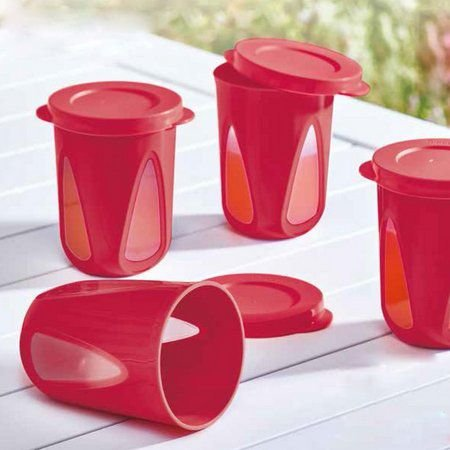 Tupperware Conjunto com 4 Copos Outdoor 330 ml