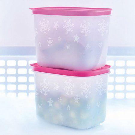 Tupperware Conjunto com Duas Freezer Line 1,1 Litro