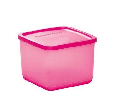 Tupperware Refri Line Quadrado 1 Litro Rosa