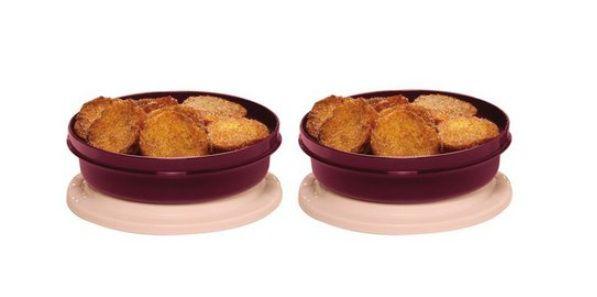 Tupperware Conjunto com duas Travessas Redonda Actualité 500 ml