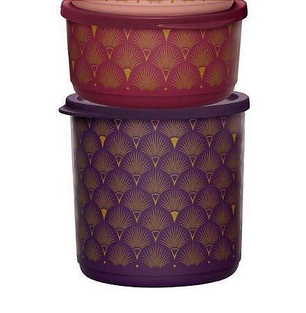Tupperware Refri Line Redondo Gold 1,1 L + 530 ml