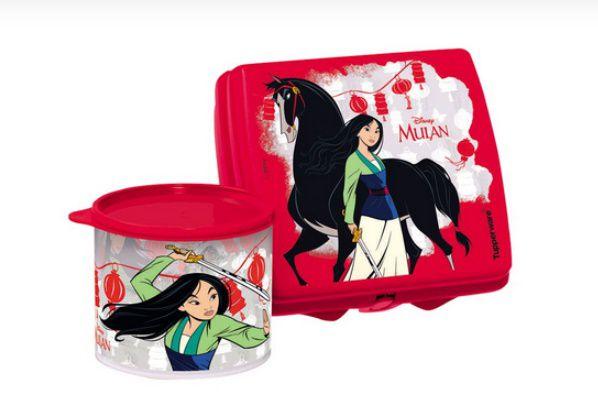 Tupperware Tupper Redondinha Mulan 500 ml e Tupperware Porta Sanduíche Mulan