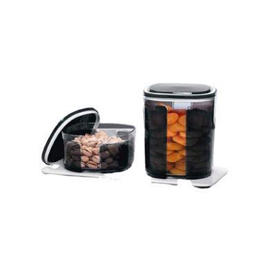 Tupperware Pote Visual Preto 700 ml e Pote Visual Preto 1,5 L