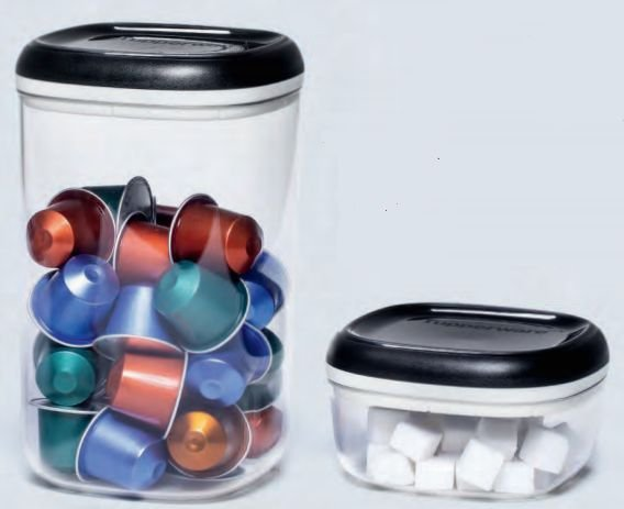 Tupperware Kit com 2 Potes Clear Transparente