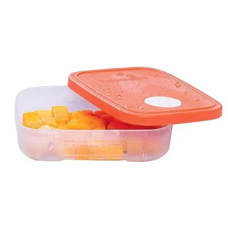 Tupperware Pote Freezertime com Tampa Laranja 300ml
