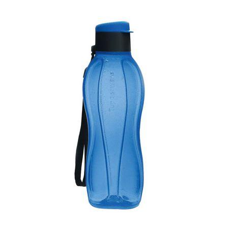 Garrafa Tupperware Eco Tupper Plus Azul Tampa Preta 500ml