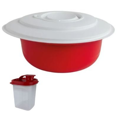 Tupperware Kit com Tigela Batedeira Pro e Tupper Slim