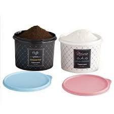 Tupperware Kit com 2 Potes Bistrô Café e Açúcar