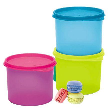 Tupperware Kit com 3 Redondinhas 500ml