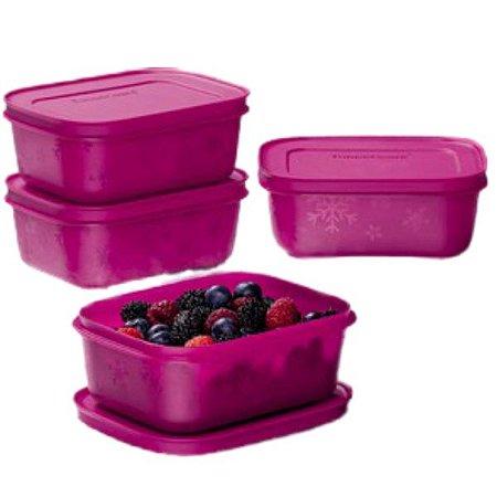 Tupperware Kit com 4 Potes Freezer Line Açaí 450ml