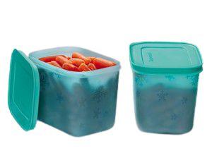 Tupperware Kit com 2 Freezer Line Mirtilo 1,1 Litros