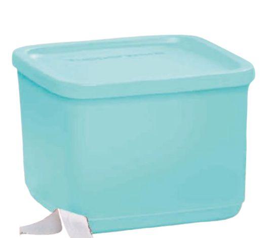 Tupperware Refri Line Quadrado Azul 1 Litro