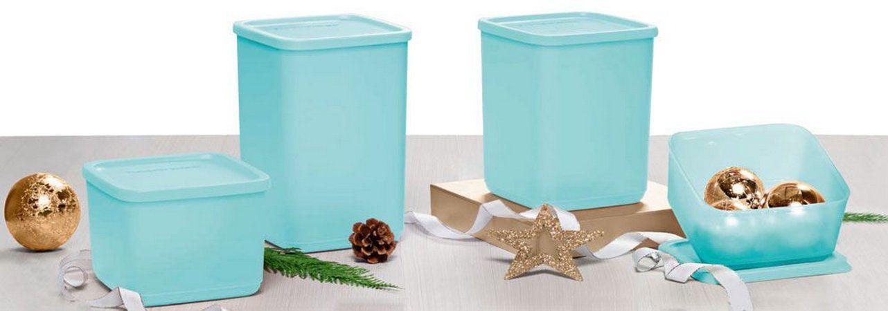 Tupperware Kit com 4 Refri Line Azul