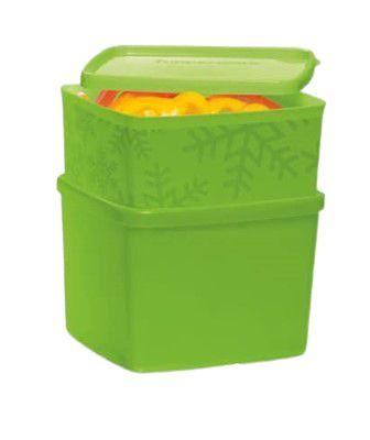 Tupperware Kit com 2 peças Jeitosinho e Jeitoso Verde