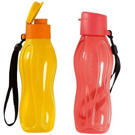 Tupperware Kit com 2 Garrafas Eco Tupper Plus Melancia e Amarelo 310ml