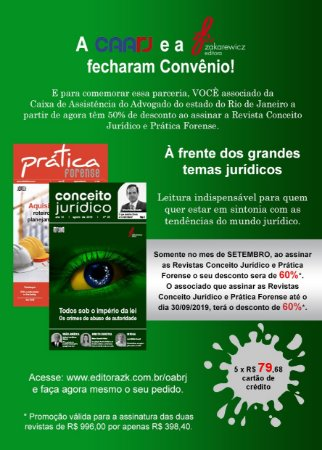 OAB RJ - Revistas Conceito Jurídico e Prática Forense digital