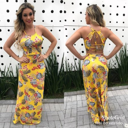378ee4d196 Vestido Longo Amarelo com Bojo - Nina Pimenta- Vestidos Longos e ...
