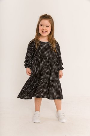 Vestido Helena Infantil Mini Poá