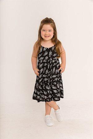Vestido Ramona Infantil Folhas