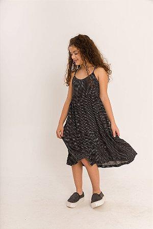 Vestido Ramona Infantil Mini Poá