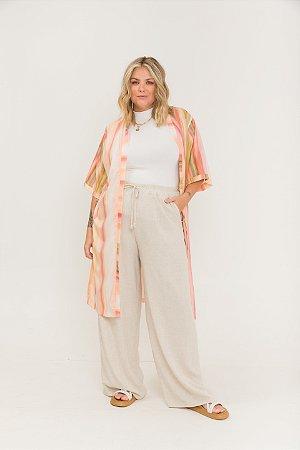 Kimono Listrado Aquarelado