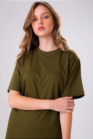 T-shirt Básica Verde Militar