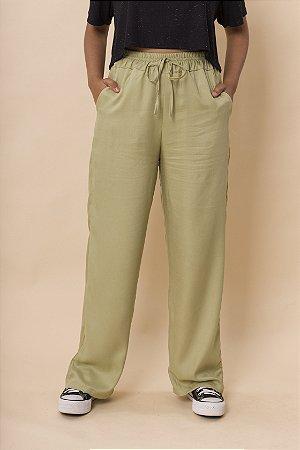 Calça Pantalona Verde Avocado