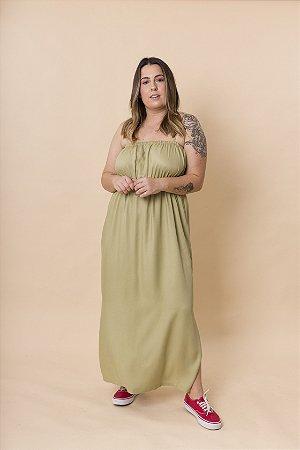 Vestido Dani Reto Maxi Verde Avocado