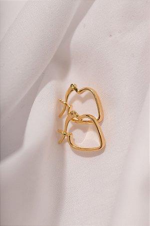 Argola Coração Dourada