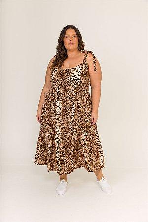 Vestido Dona Zeli Alças de Amarrar Real Onça