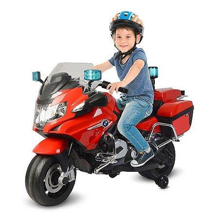 Mini Moto Eletrica Infantil 12v - BMW Bombeiro - Vermelha
