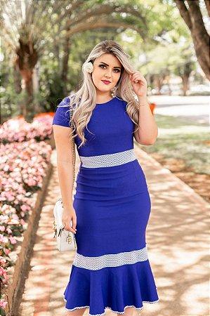 97d29ae923 Vestido Tubinho Mid Azul Royal - Moda Feminina