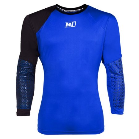 Camisa de Goleiro N1 Azul e Preta